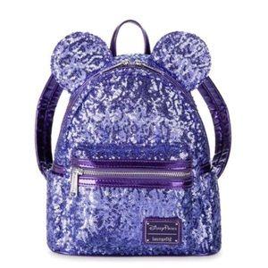 Disney Park Mickey Mouse Purple Mini Backpack